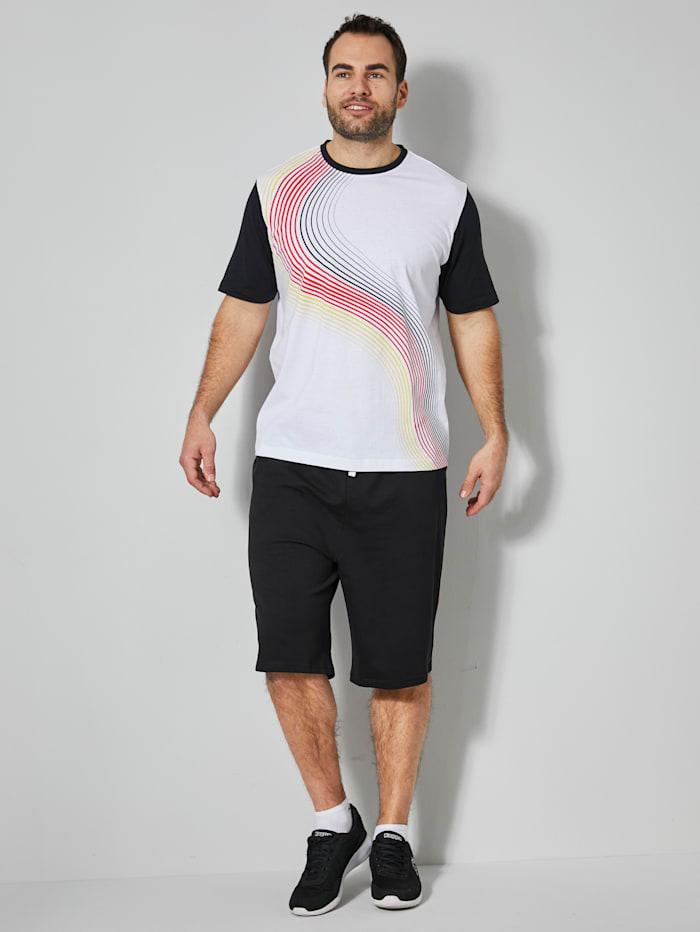 Men Plus T-shirt van zuiver katoen, Wit