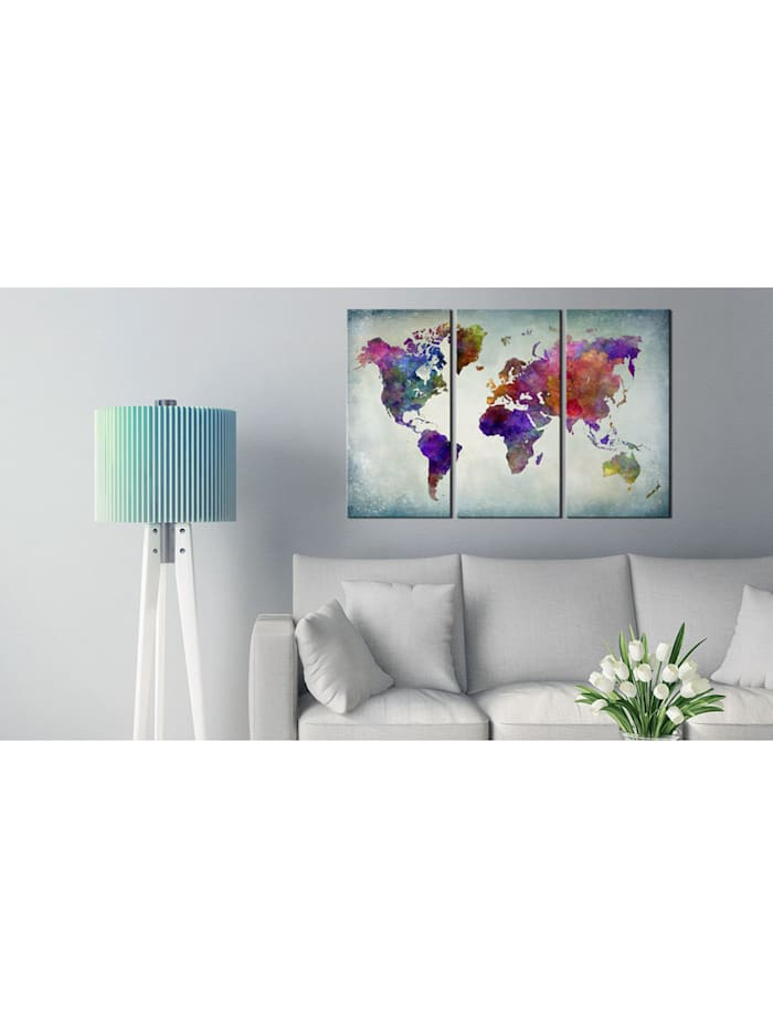 Wandbild World in Colors