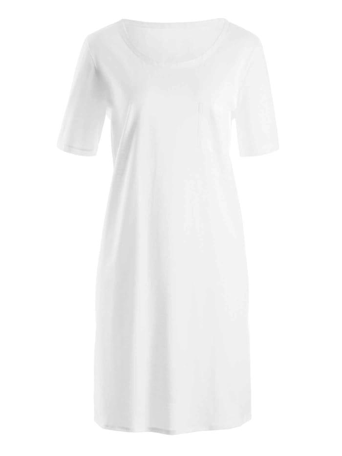 Hanro Nachthemd, Länge 90cm STANDARD 100 by OEKO-TEX zertifiziert, white