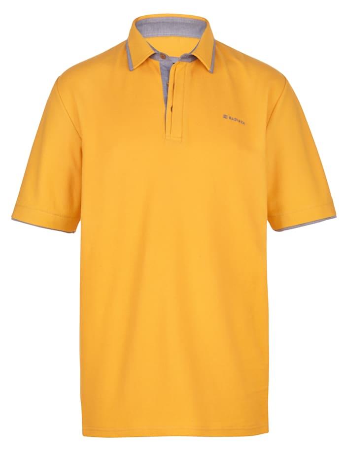 BABISTA Poloshirt mit feiner Struktur, Maisgelb