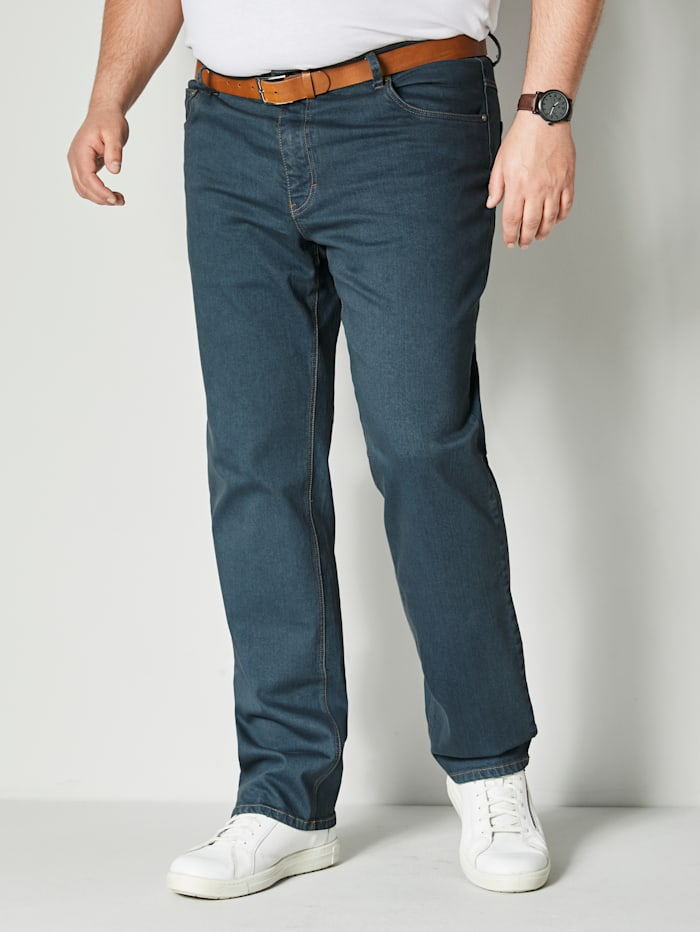 Men Plus Jeans met stretch, Blue stone