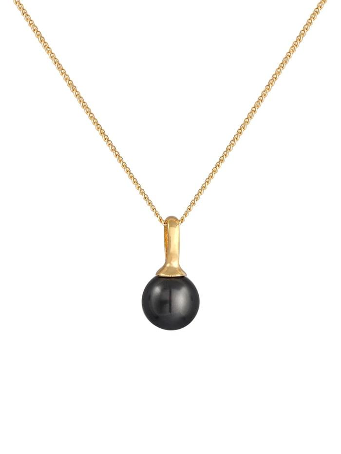 Halskette Synthetische Perle Rund Klassik 925 Silber