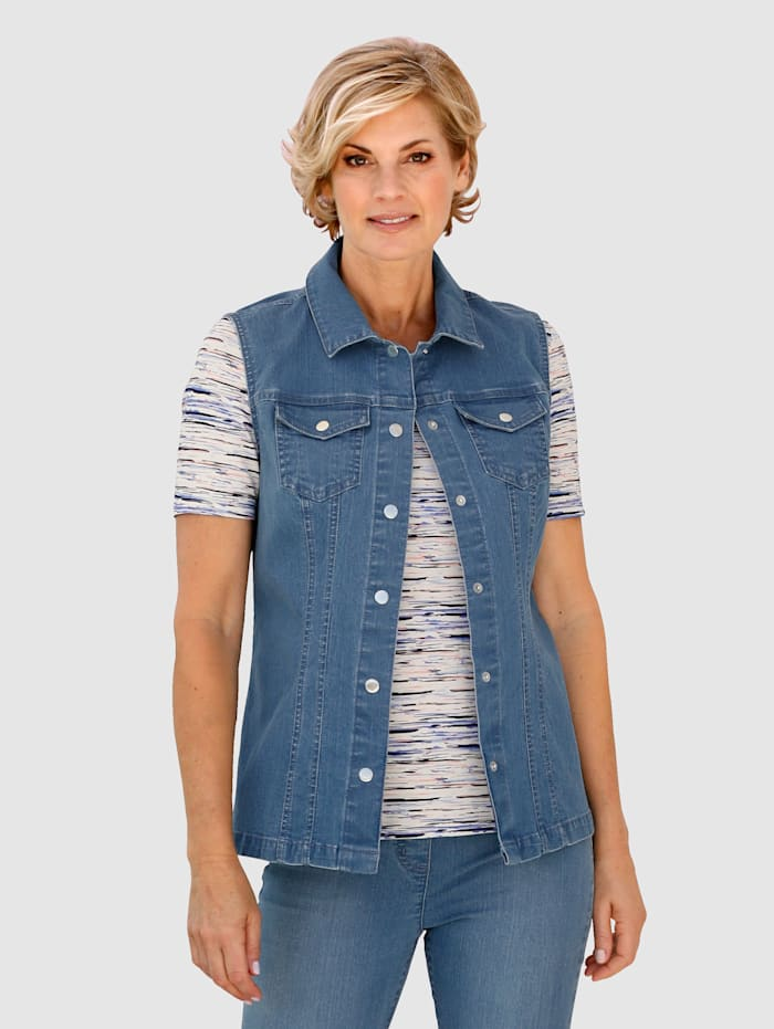 Jeansweste in heller Denim-Optik
