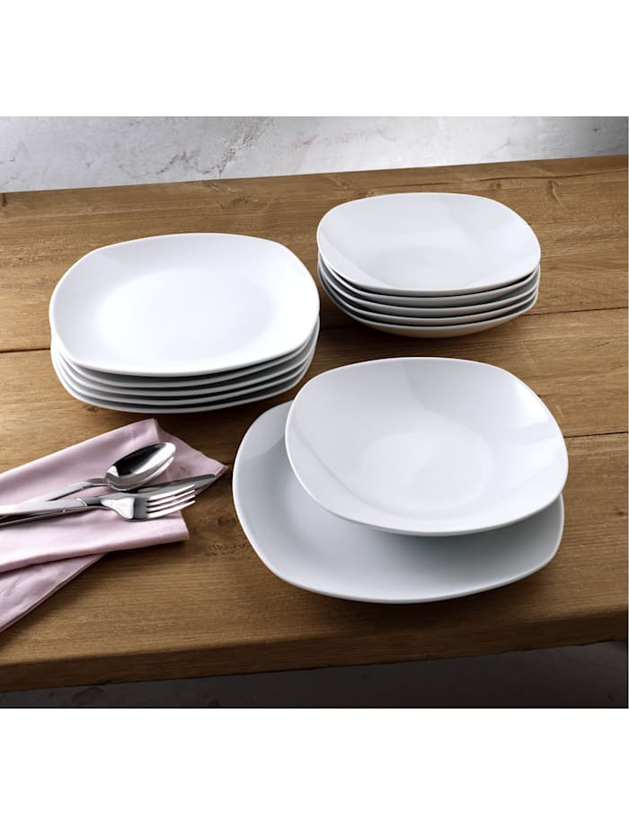 Van Well Middagsservise i 12 deler -Lilli-, hvit