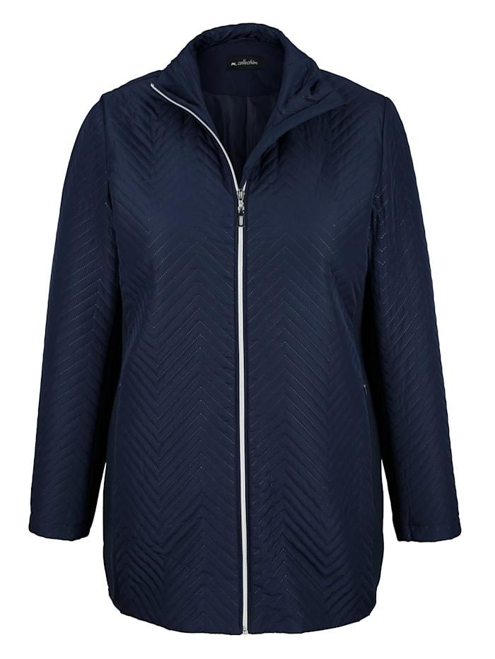 m. collection Jacke in modischem Steppdesign, Marineblau