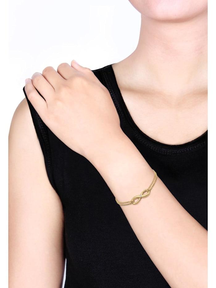 Armband Infinity Ewig Diamant (0.03 Ct.) 925 Silber