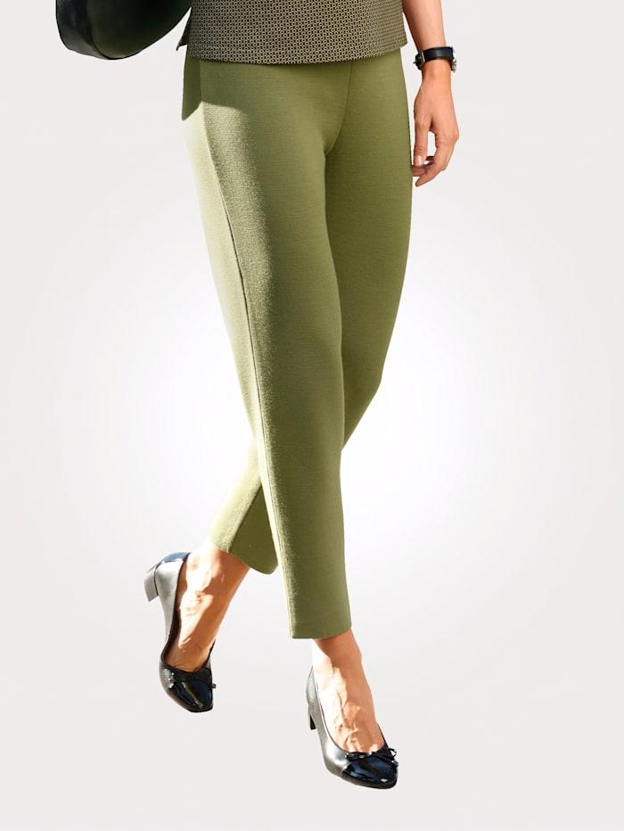 MONA Pantalon en maille de coloris mode, Pistache