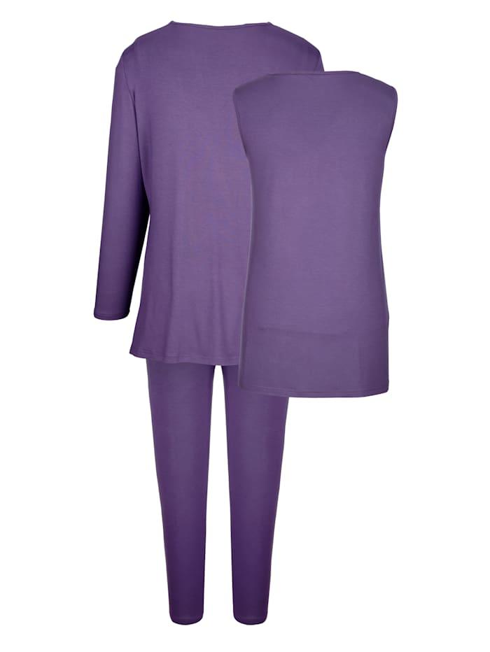 Športové oblečenie s peknou aplikáciou kamienkov Súprava