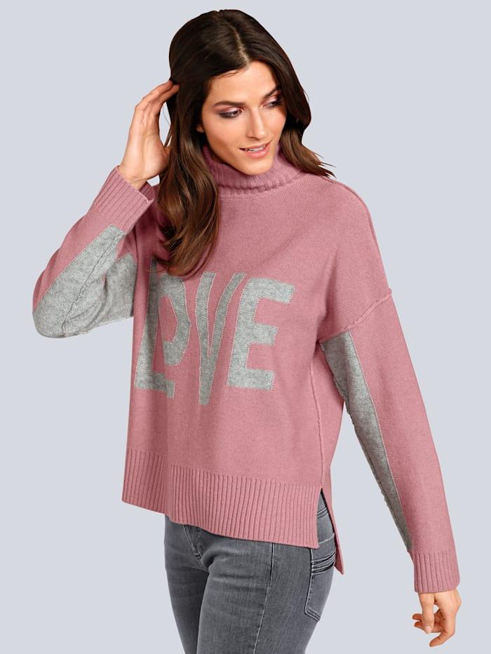 JETTE JOOP Pullover mit großem Rollkragen, Rosé