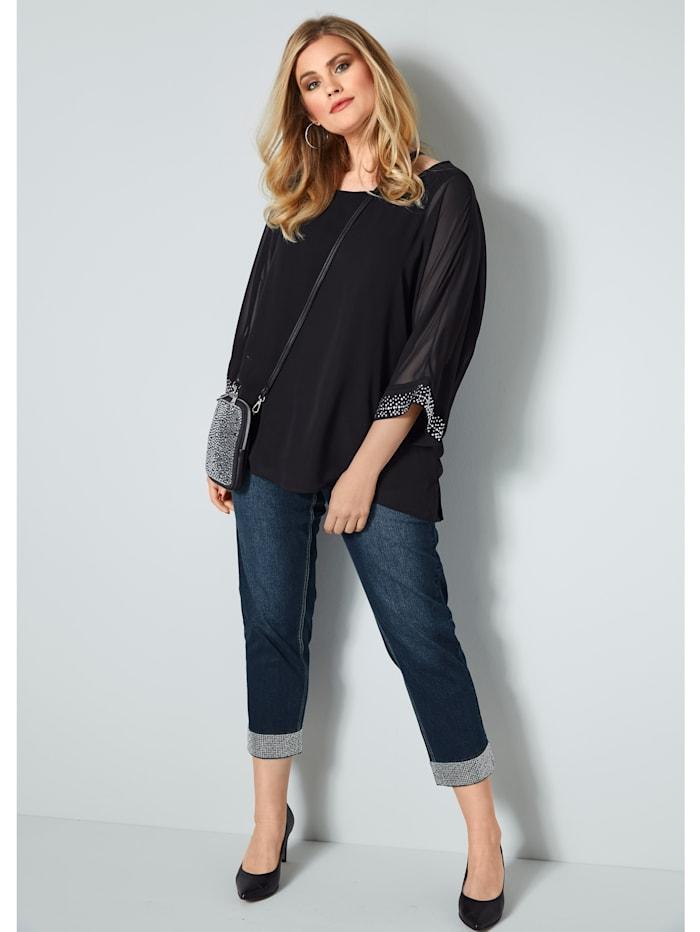7/8-jeans met strassteentjes