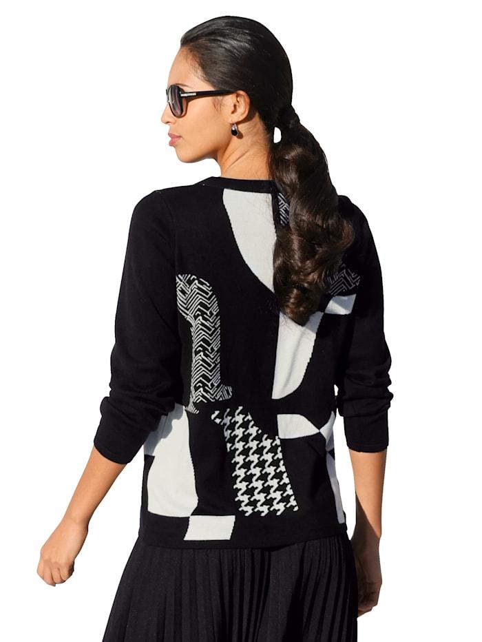 Pullover mit Strasssteinen im Vorderteil