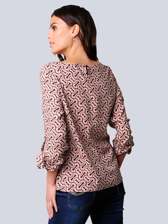 Bluse im exklusiven Dessin nur bei Alba Moda erhältlich