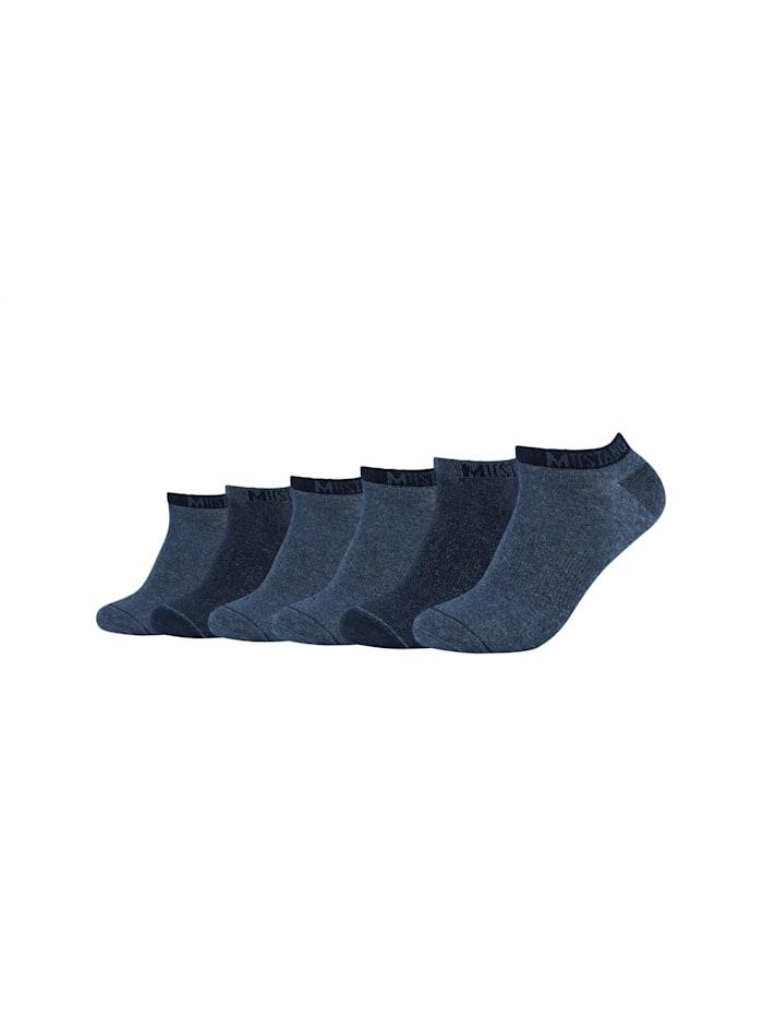 Mustang Sneakersocken 6er-Pack mit weichem Komfortbund, jeans mix