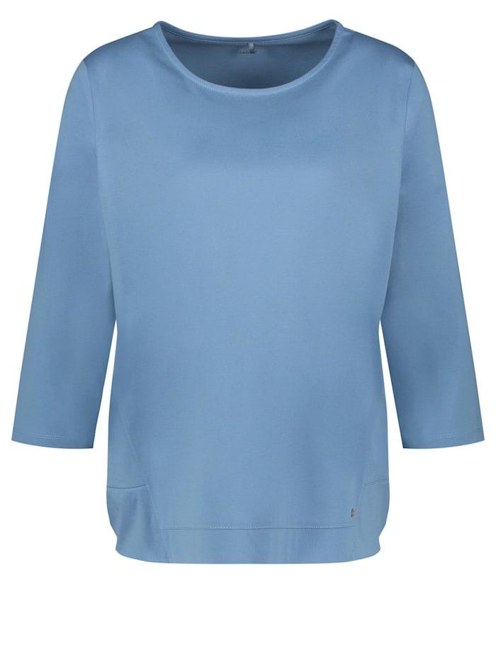 Gerry Weber 3/4 Arm Shirt mit feinem Glanz, Vivid Blue