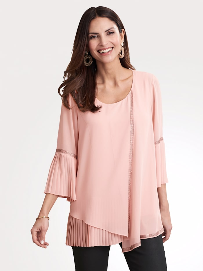 MONA Set bestaande uit een blouse en een topje, Roze