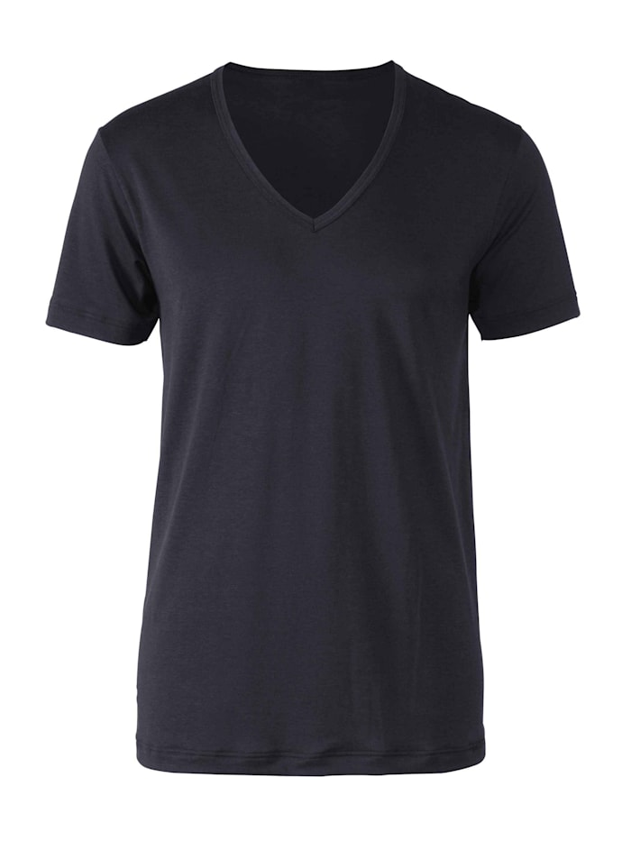Calida T-Shirt, V-Neck STANDARD 100 by OEKO-TEX zertifiziert, black