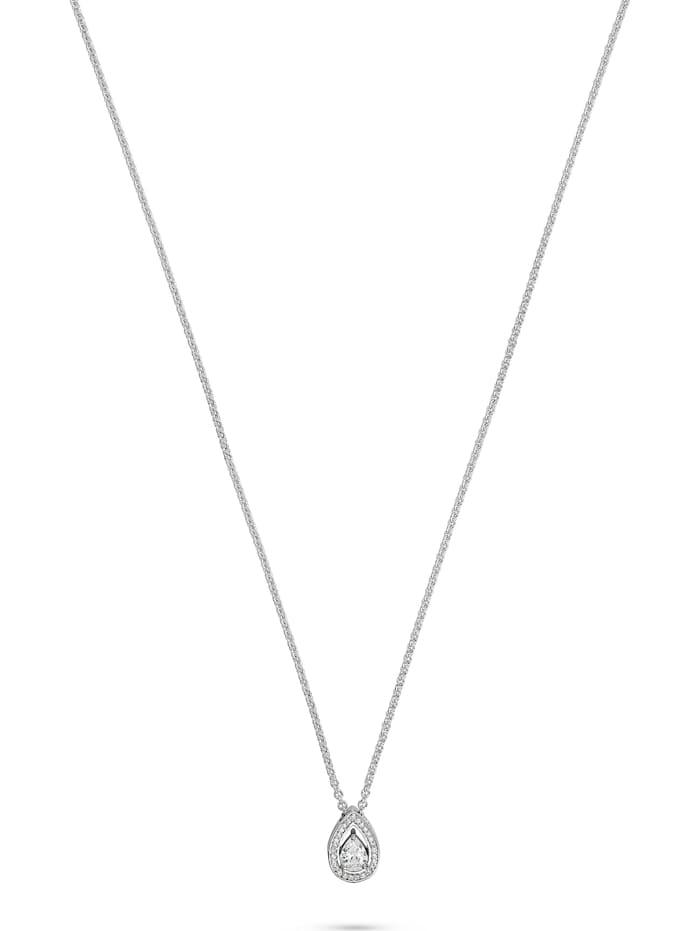 FAVS. FAVS Damen-Kette 925er Silber 28 Zirkonia, silber