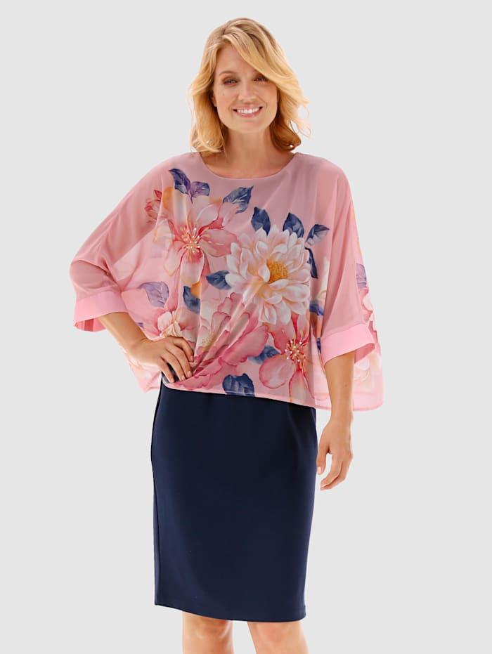 Paola Kleid in 2-in-1-Optik, Marineblau