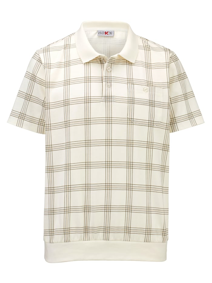 Roger Kent T-shirt entièrement imprimé, Écru