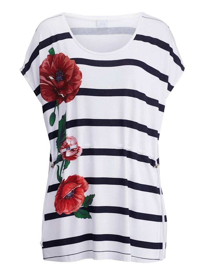 Alba Moda Shirt met sierkoordje, wit/marine