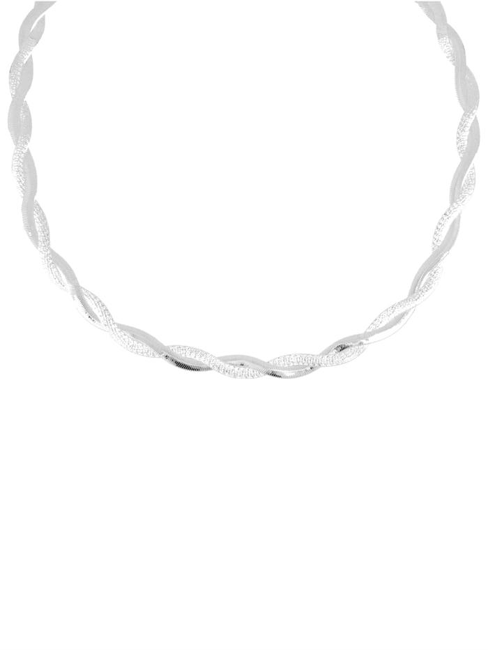Grazielli Heringbonekette, Silberfarben