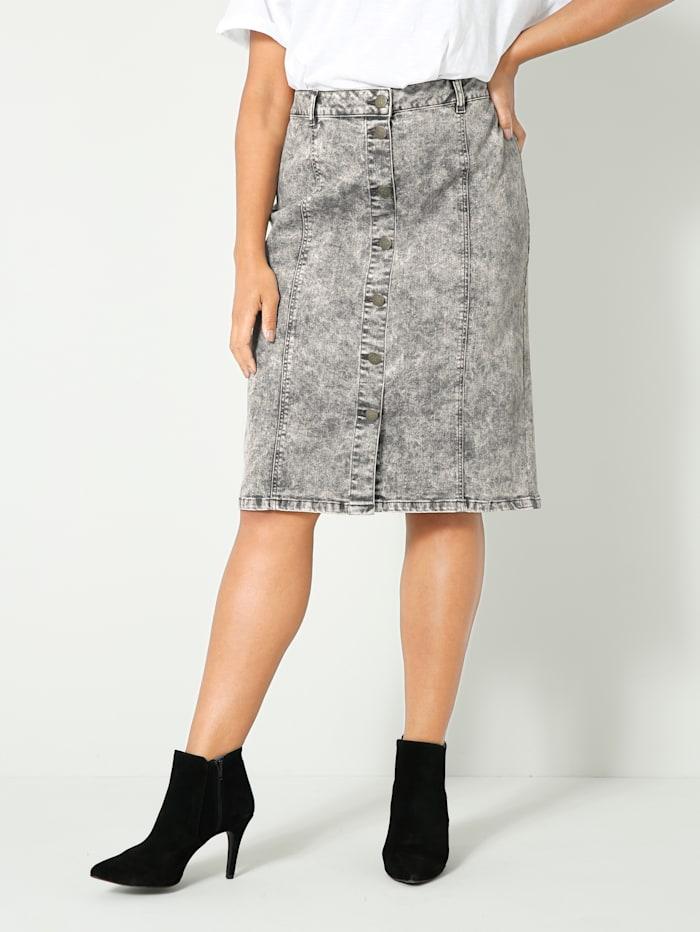 Angel of Style Spijkerrok in moonwashed look, Grey