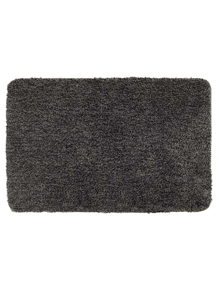 Wenko Badteppich Mélange Mouse Grey, 70 x 120 cm, Mikrofaser, Polyester/Mikrofaser: Grau