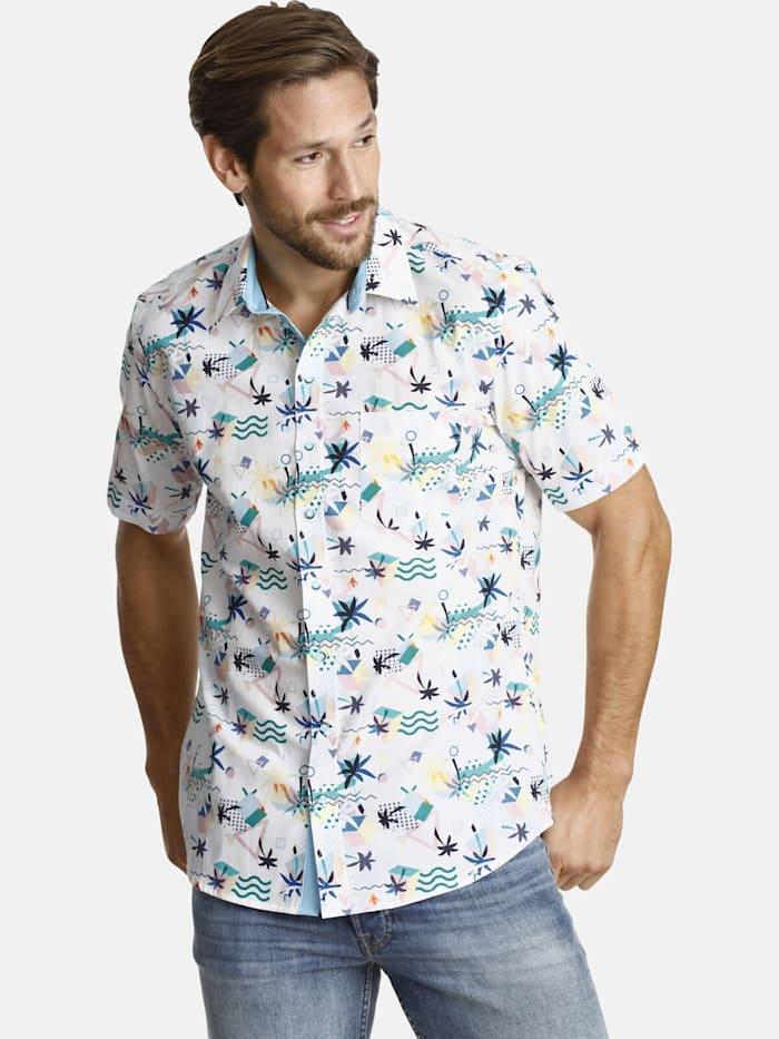 Shirtmaster Shirtmaster Kurzarmhemd summerinflorida, weiß