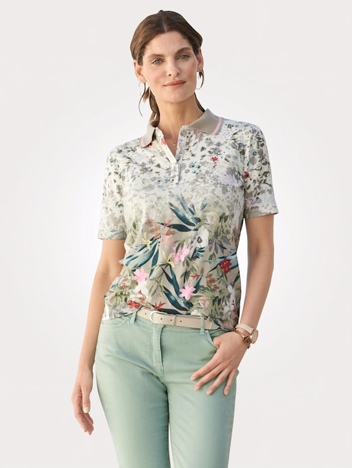 Relaxed by Toni Top made from jersey, Rosé/Sage Green