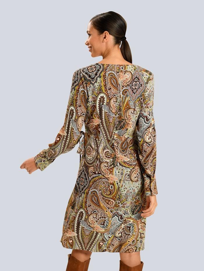 Wickelkleid im Paisleydessin aus Viskose