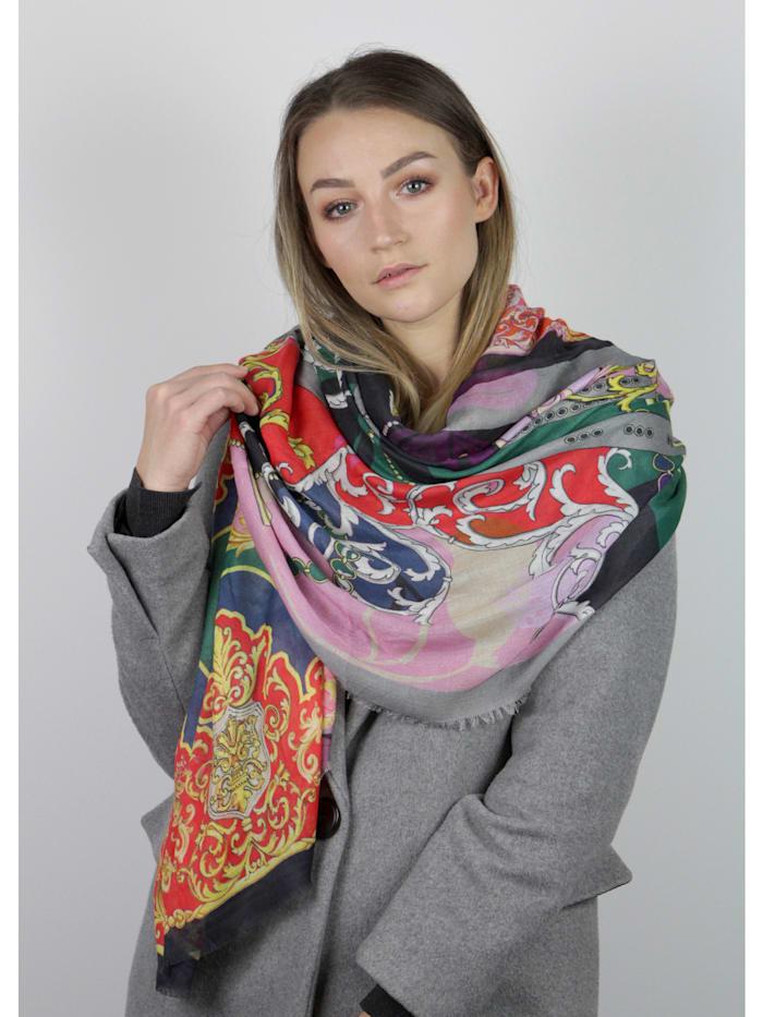 Schal mit klassischem Foulard-Muster aus Baumwolle und Modal