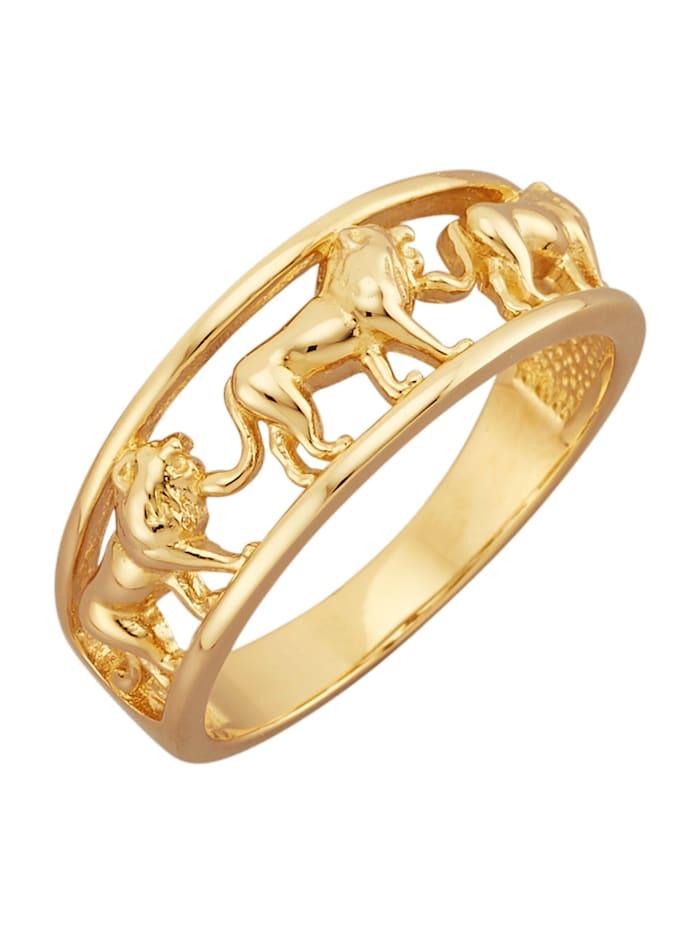 Diemer Gold Löwen-Ring in Gelbgold 585, Gelbgoldfarben