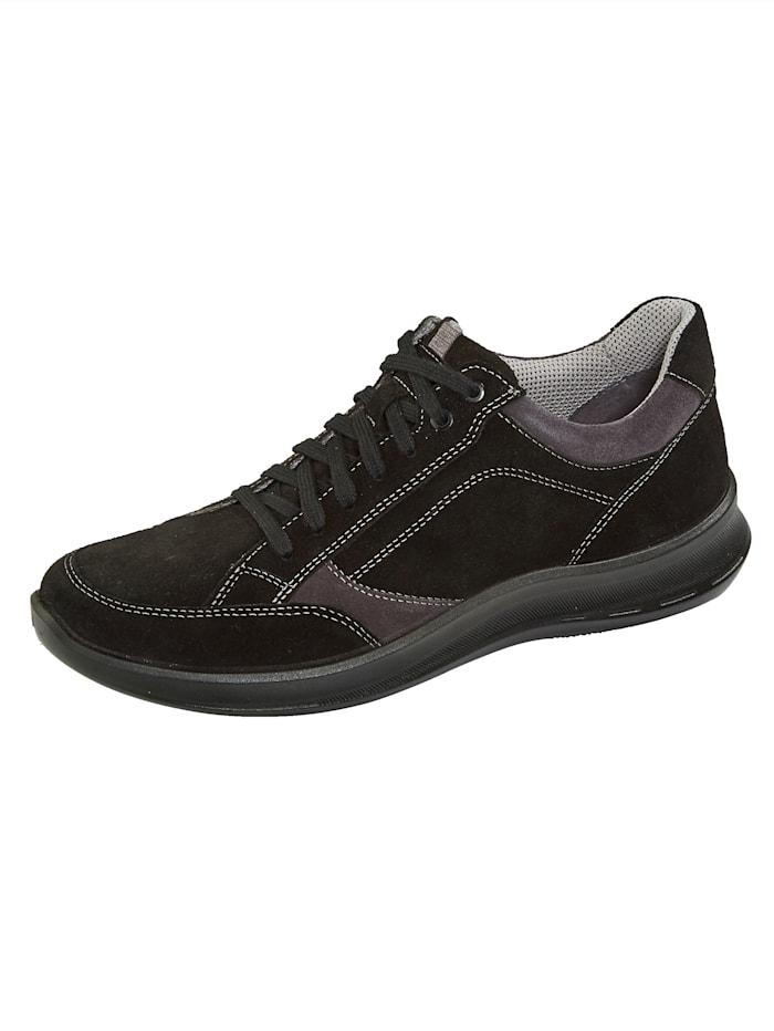 Jomos Šnurovacia obuv s kontrastným šitím, Čierna