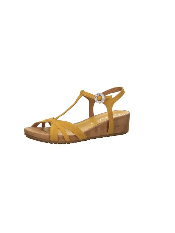 Unisa Sandalen/Sandaletten, gelb