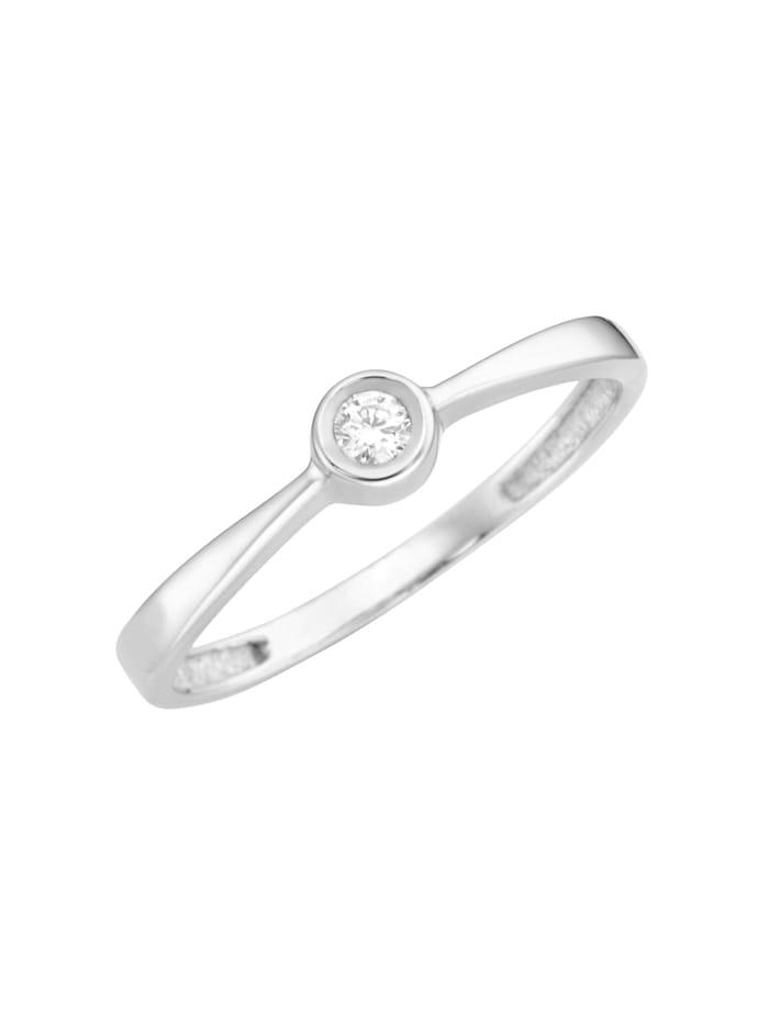 Luigi Merano Ring mit Brillant, Gold 585, Silber