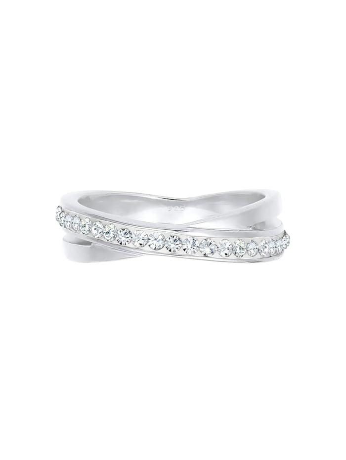 Ring Wickelring Zart  Kristalle 925 Silber