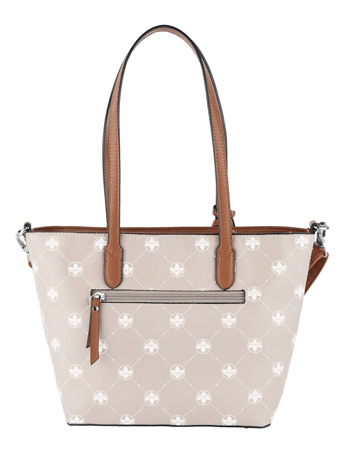 Handbag with an exclusive logo print