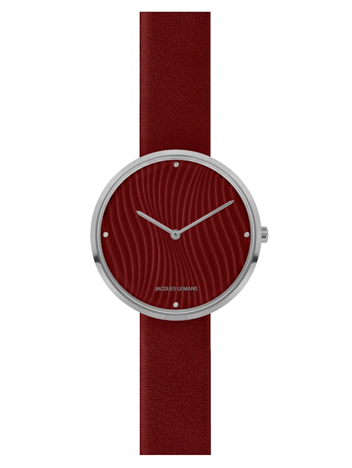 Jacques Lemans Damenuhr Serie: Design Collection, Kollektion: Classic: 1-2093F, Rot