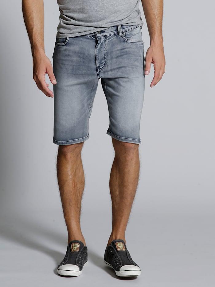 Men Plus Bermuda Jog-Denim, Blue bleached