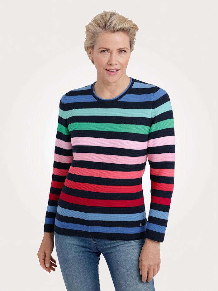 Rabe Pullover, Marineblau/Multicolor