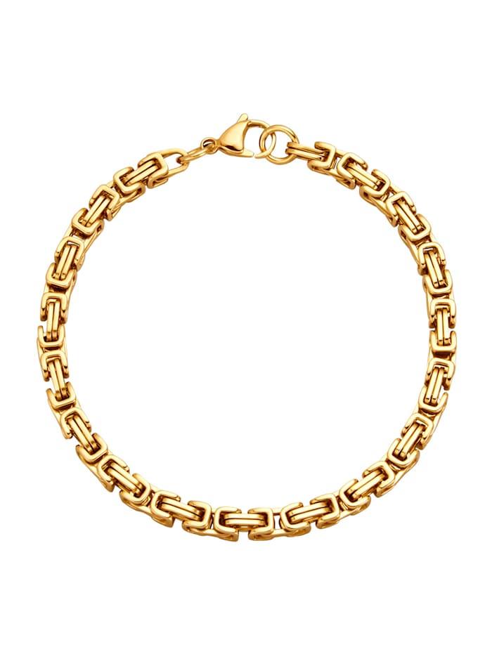 Bracelet maille royale, doré, Coloris or jaune