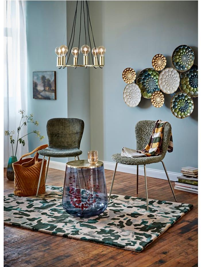 IMPRESSIONEN living Stuhl, olivefarben, Samtbezug
