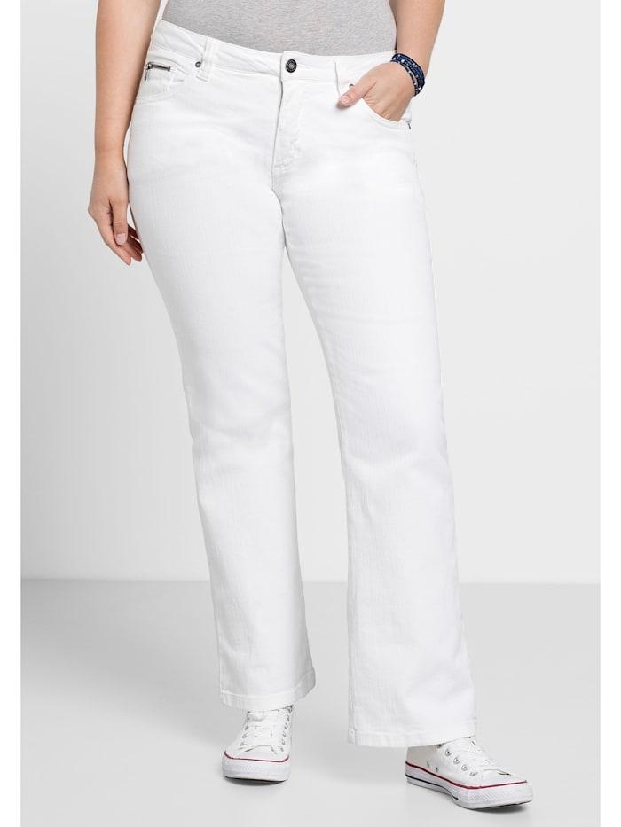 Sheego Sheego Jeans, white Denim