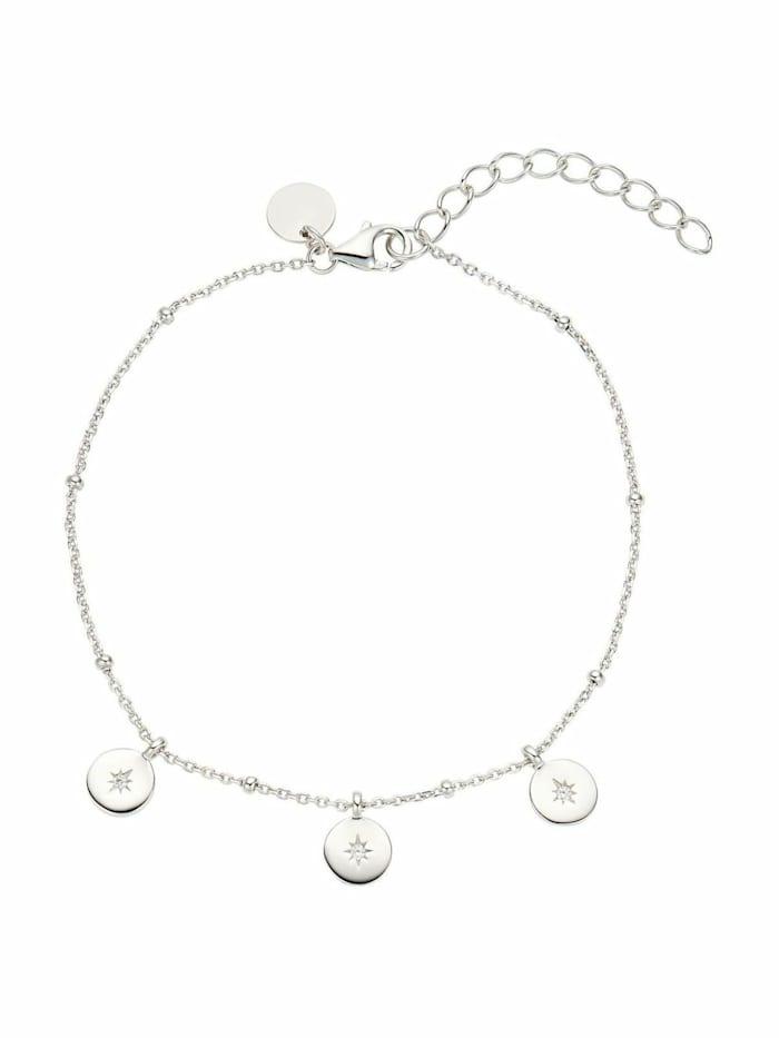 Noelani Armband für Damen, Sterling Silber 925, Zirkonia Polarstern, Silber