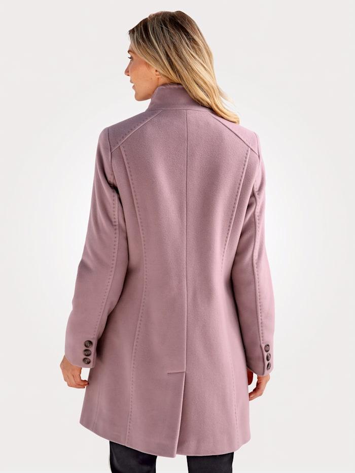 Manteau en laine mélangée à teneur en cachemire
