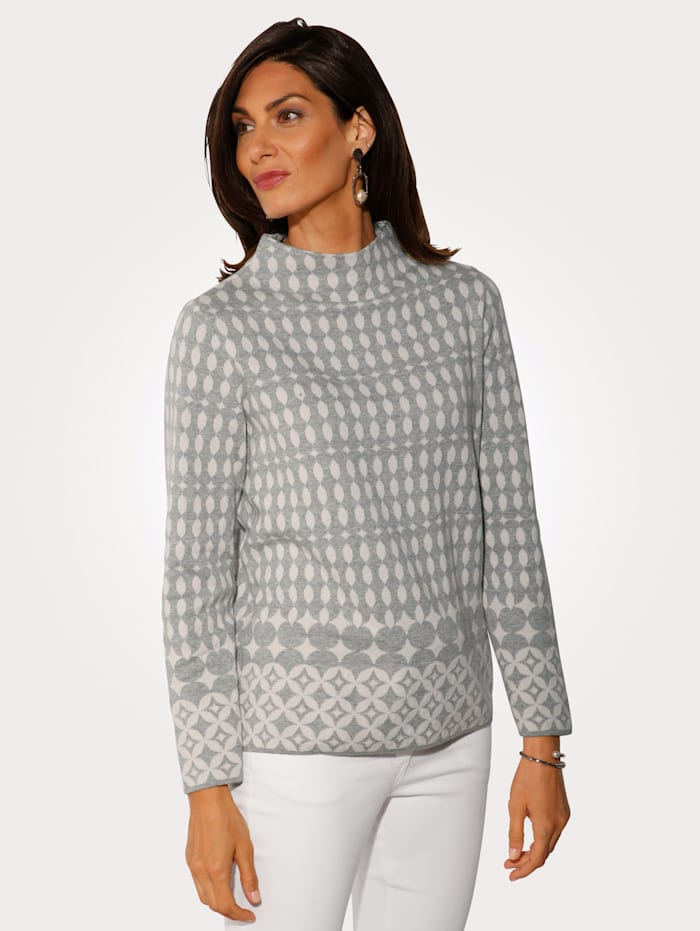 Jumper made from a jacquard knit