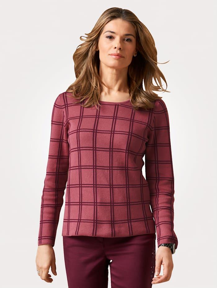 Pullover mit Schal aus Pima-Baumwolle