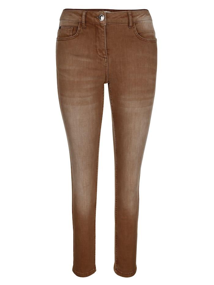 Jeans van gekleurd denim