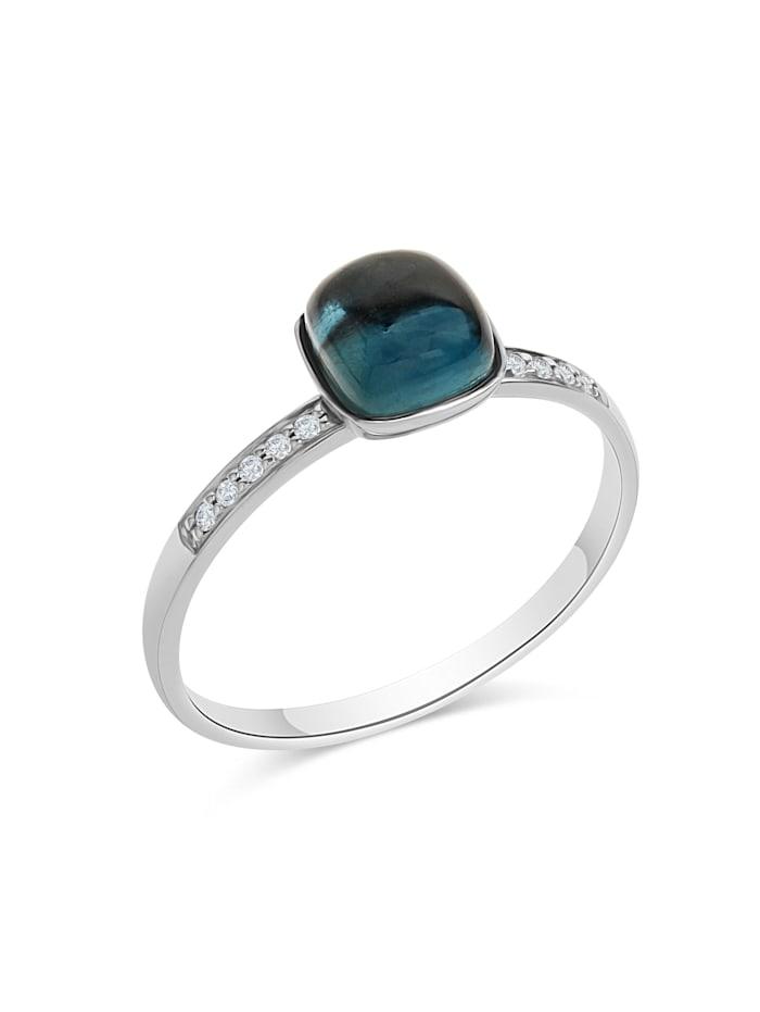 Diamonds by Ellen K. Ring 585/- Gold Brillant weiß Diamant Glänzend 0,054ct., weiß