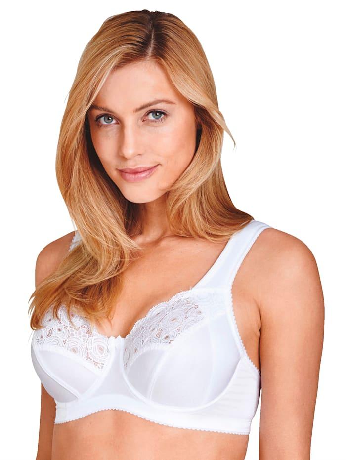 Miss Mary Soutiens-gorge à armatures de coupe spéciale pour un porter impeccable, Blanc